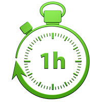 1 uur sevice logo