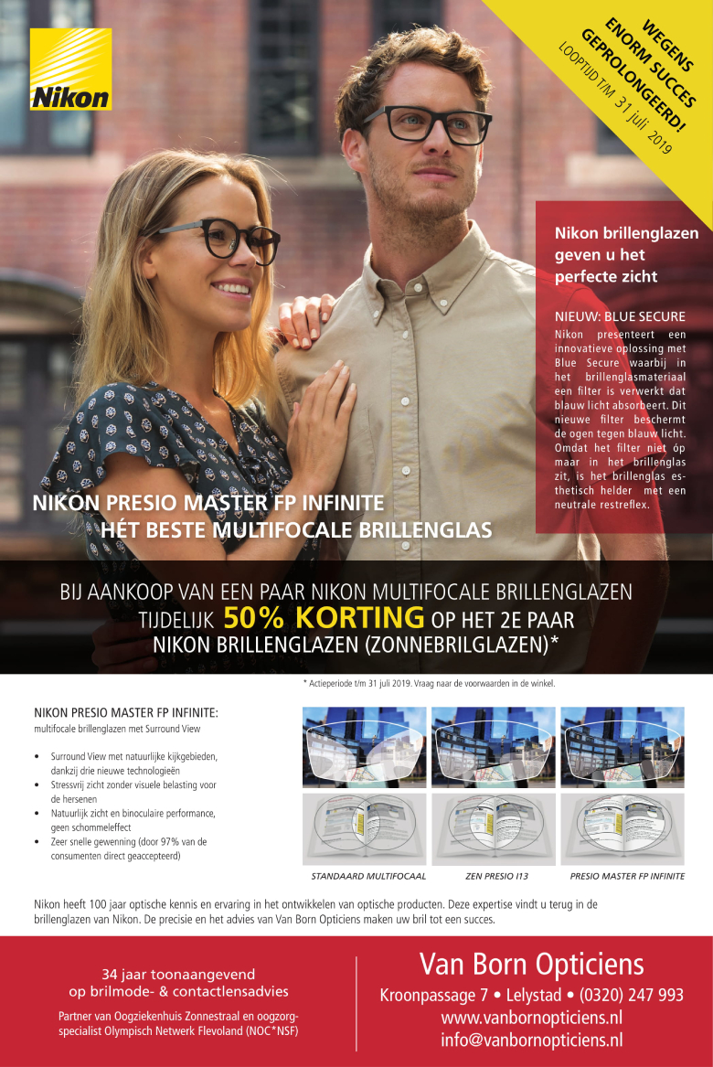 Van Born Opticiens NIKON PRESIO MASTER FP INFINITE advertentie