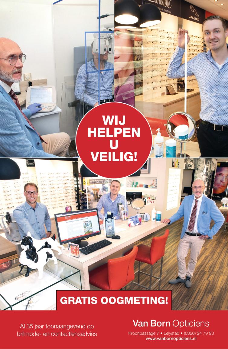 Advertentie Van Born Opticiens veilig werken